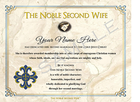 Certificate of honor for noble second wives elizabeth brickman script certificate of honor yadclub Choice Image